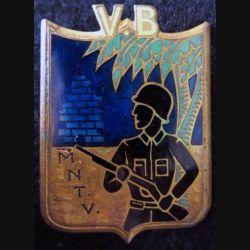 GARDE VB MNTV : insigne métallique de la Garde des Provinces Méridionales du Centre Vietnam de fabrication Drago O.M Déposé
