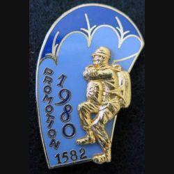 PROMO ETAP 1980 1582 : insigne métallique de la promotion de l'école des troupes aéroportées 1980 1582 Delsart n° 246