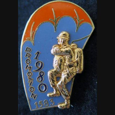PROMO ETAP 1980 1583 : insigne métallique de la promotion de l'école des troupes aéroportées 1980 1583 Delsart n° 212