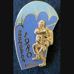 PROMO ETAP 1980 1584 : insigne métallique de la promotion de l'école des troupes aéroportées 1980 1584 Delsart n° 249