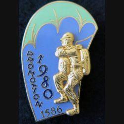 PROMO ETAP 1980 1586 : insigne métallique de la promotion de l'école des troupes aéroportées 1980 1586 Delsart n° 273