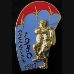 PROMO ETAP 1980 1587 : insigne métallique de la promotion de l'école des troupes aéroportées 1980 1587 Delsart n° 189