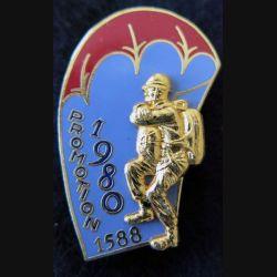 PROMO ETAP 1980 1588 : insigne métallique de la promotion de l'école des troupes aéroportées 1980 1588 Delsart n° 187