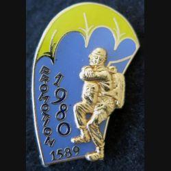 PROMO ETAP 1980 1589 : insigne métallique de la promotion de l'école des troupes aéroportées 1980 1589 Delsart n° 126