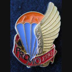 PROMO ETAP 1980 1593 : insigne métallique de la promotion de l'école des troupes aéroportées 1980 1593 Delsart n° 233