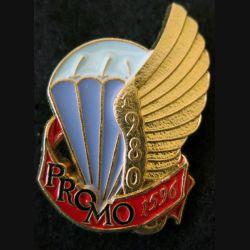 PROMO ETAP 1980 1596 : insigne métallique de la promotion de l'école des troupes aéroportées 1980 1596 Delsart n° 280