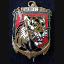 6° BMEO : insigne métallique du 6° Bataillon de Marche d' Extrême Orient Drago O Metra Déposé