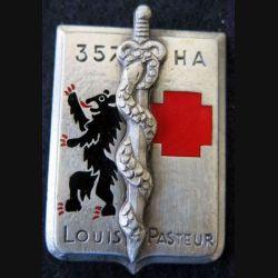 357° HA L.PASTEUR : insigne du centre hospitalier des armées L.Pasteur de fabrication Drago G. 2289