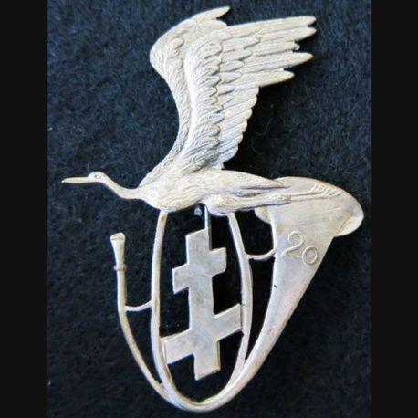 20° BCP : insigne métallique du 20° bataillon de chasseurs à pied