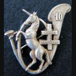 10° BCP : insigne métallique du 10° bataillon de chasseurs à pied A.Bertrand déposé