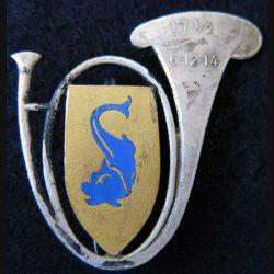 27° DBCA : insigne métallique du 27° Demi Brigade de chasseurs alpins ajouré
