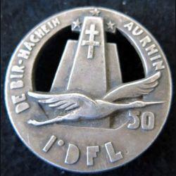 50°CQG 1°DFL : Insigne de la 50° compagnie de quartier général de la 1° division française libre A.B (poinçon)