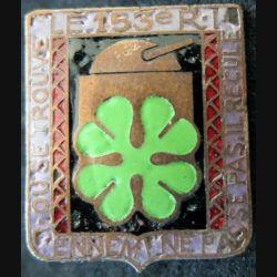 153° RIF : insigne métallique du 153° régiment d''infanterie de Forteresse fabrication Arthus Bertrand Paris déposé argenté