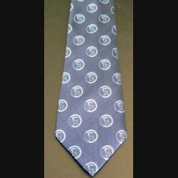 Cravate en soie et polyester du Souvenir Français dominante bleue neuve (C176)