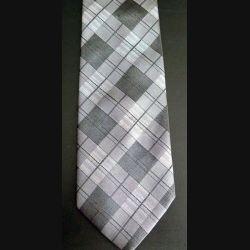 Cravate retro CANDA 100 % polyester à dominante grise (C176)