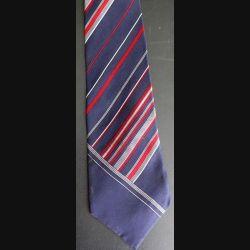 Cravate Lanvin 100 % soie à dominante foncée rayée rouge et verte (C176)