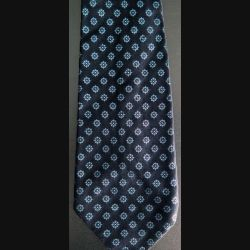 Cravate Bournat Paris 100 % soie à dominante bleue (C176)