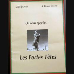 """4° RE : Lot de 7 affiches A3 du livre on nous appelle """" les fortes têtes """" légion étrangère (C190)"""