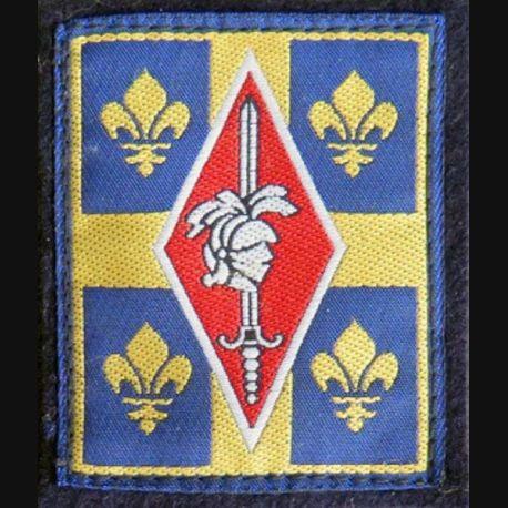 10° DB : insigne tissu de la 10° division blindée cousu sur feutrine noire