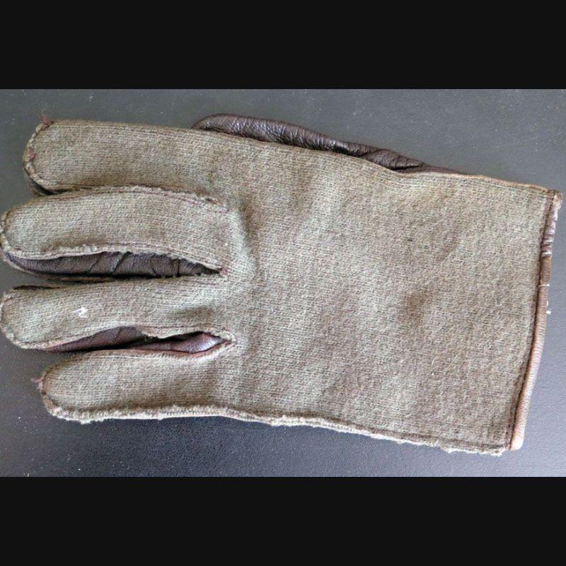 6d17a76b66306 Gant unique de combat tissu vert paume cuir armée française (C181) ...