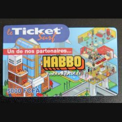 TELECARTE : télécarte TICKET SURF 5000 FCFA Habbo neuve
