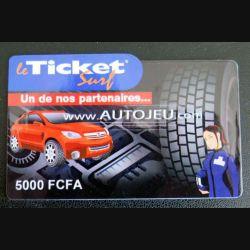 TELECARTE : télécarte TICKET SURF 5000 FCFA Autojeu neuve