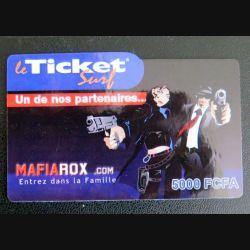 TELECARTE : télécarte TICKET SURF 5000 FCFA Mafiarox neuve