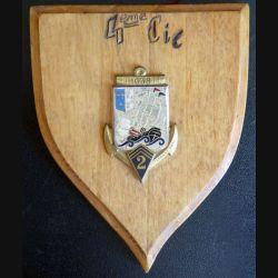 2° RIMA : écu de bois de la 4° Compagnie du 2° Régiment d'Infanterie de Marine attribuée