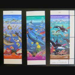 UN ONU : Planche de 6 timbres neufs de l'ONU Océans propres Claean Oceans saubere meere