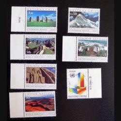 UN ONU : lot de 7 timbres neufs des Nations Unies Vereinte Nationen United Nations Patrimoine mondial