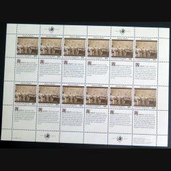UN ONU : Planche de 12 timbres neufs de l'ONU Human Rights article 8