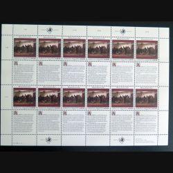 UN ONU : Planche de 12 timbres neufs de l'ONU Human Rights article 11