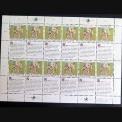 UN ONU : Planche de 12 timbres neufs de l'ONU Human Rights article 12