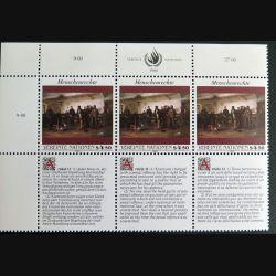 UN ONU : Planche de 3 timbres neufs de l'ONU Human Rights article 11