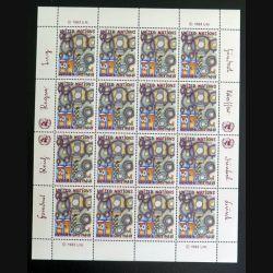 UN ONU : Planche de 16 timbres neufs de l'ONU Human Rights 1948-83 1983