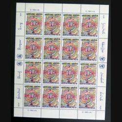 UN ONU : Planche de 16 timbres neufs de l'ONU Droits de l'Homme 1948-83 1983