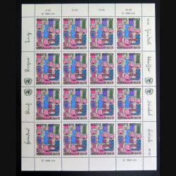 UN ONU : Planche de 16 timbres neufs de l'ONU Menschen rechte 1948-83 1983