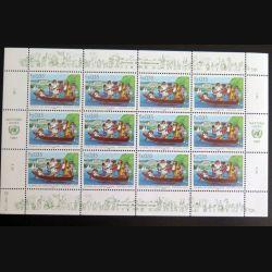 UN ONU : Planche de 12 timbres neufs de l'ONU journée des Nations Unies 1987