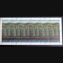 UN ONU : Planche de 12 timbres neufs de l'ONU survie des forêts 1988