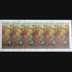 UN ONU : Planche de 12 timbres neufs de l'ONU Retten den Wald 1988