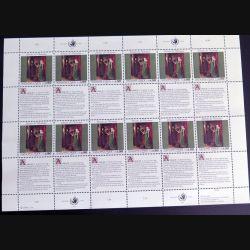 UN ONU : Planche de 12 timbres neufs de l'ONU Human Rights article 16