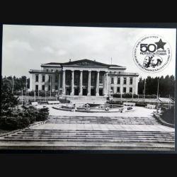 Carte postale des 50 jahre Roter Oktober jubilaums briefmarken ausstellung Karl Marx Stadt 1967