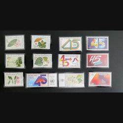 UN ONU : 6 timbres neufs de l'ONU 45° Anniversaire et 6 timbres médicinal plants