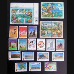 UN ONU 28 timbres neufs : 12 environnement + 6 timbres Namibie + 6 timbres prévention du crime + 4 timbres UN