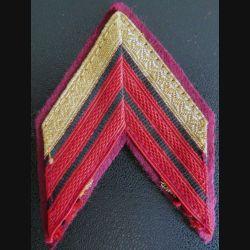 Galon de Caporal chef du service de santé avec crochets arrière