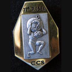 21° RIMa : Insigne métallique de la Compagnie de Commandement et Services du 21° Régiment d'Infanterie de Marine FIA