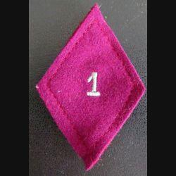 LOSANGE DE BRAS MODÈLE 45 : 1° régiment médical troupe avec crochets arrière