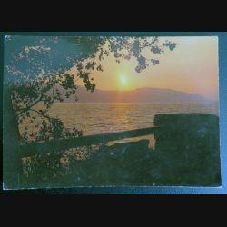 Carte postale coucher de soleil au Lac du Bourget
