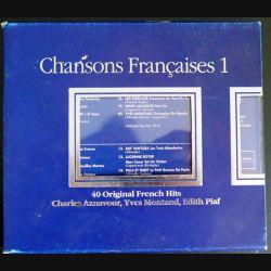 COFFRET DISQUE CD Chansons françaises n° 1 40 titres originaux 2 CD C177)