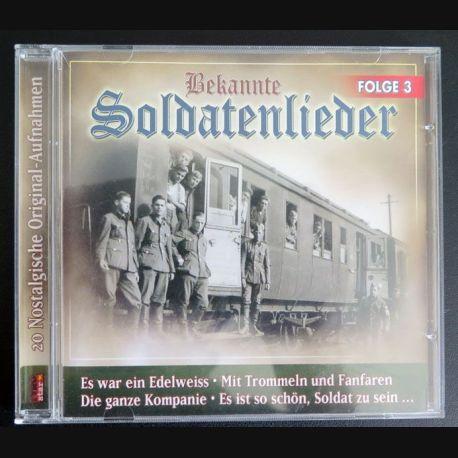 DISQUE CD Rekannte Soldatenlieder Folge 3  (C177)